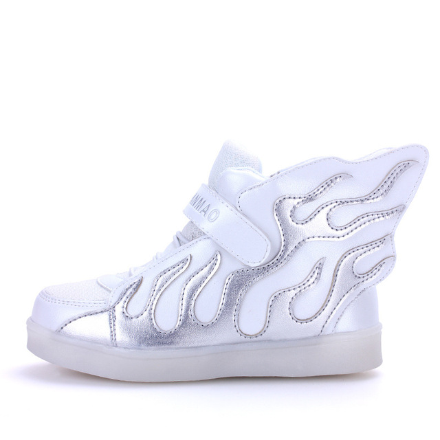 LED girls shoes shined tenis led infantil luminous kids light up boys shoes glowing sneakers lights shining shoes USB Charge