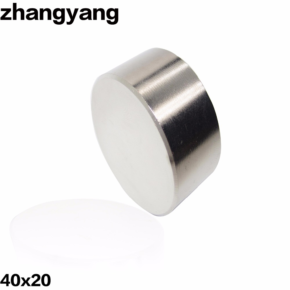 ZHANGYANG 1 pz N42 Neodimio 40x20mm gallio metallo super forti magneti 40*20 magnete rotondo potente magnetico permanente