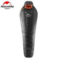 Naturehike UL800/UL1200 Сверхлегкий мумия 15 ~ 20 градусов теплое зимнее пуховое спальный мешок Кемпинг зимний спальный мешок