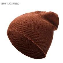 HANGYUNXUANHAO Women'S Hats Knitted Wool Autumn Winter Casual High Quality Brand New 2018 Hot Sale Hat Female Skullies Beanies недорго, оригинальная цена