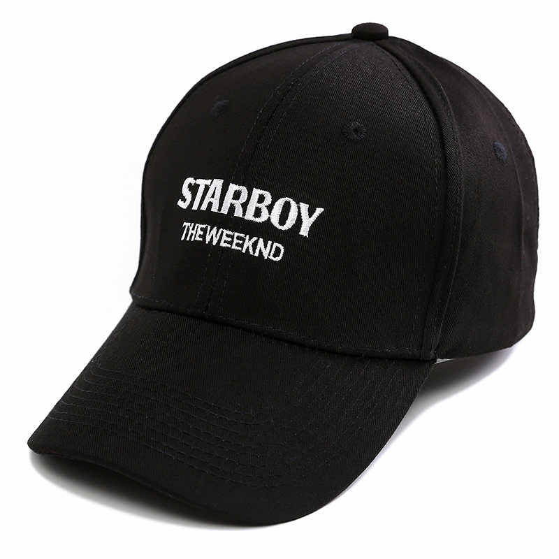 The Weeknd Starboy Hats Brand 100% Cotton Caps XO Dad Hat Embroidery Baseball  Caps Snapback Hip Hop Caps Men and Women-in Baseball Caps from Apparel ... 2d30b8515e3