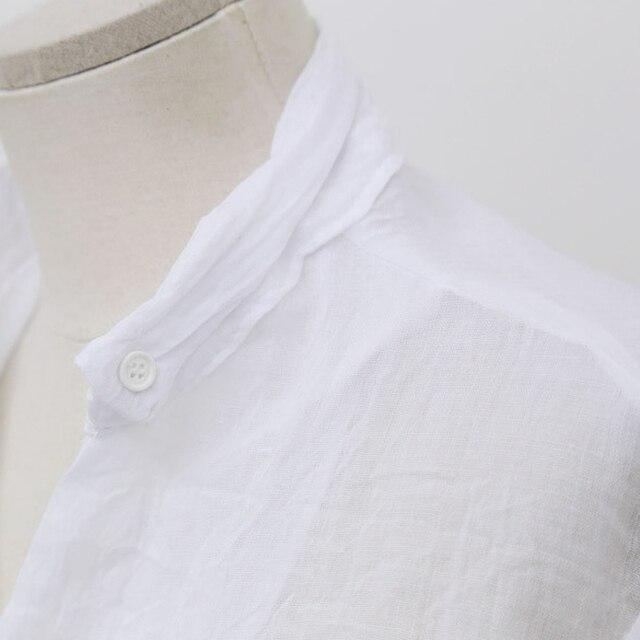 Chemisier Femme Womens Tops Fashion 2016 Autumn Linen White Shirt Women Long Sleeve Blouse Korean Woman Clothes Roupas Femininas