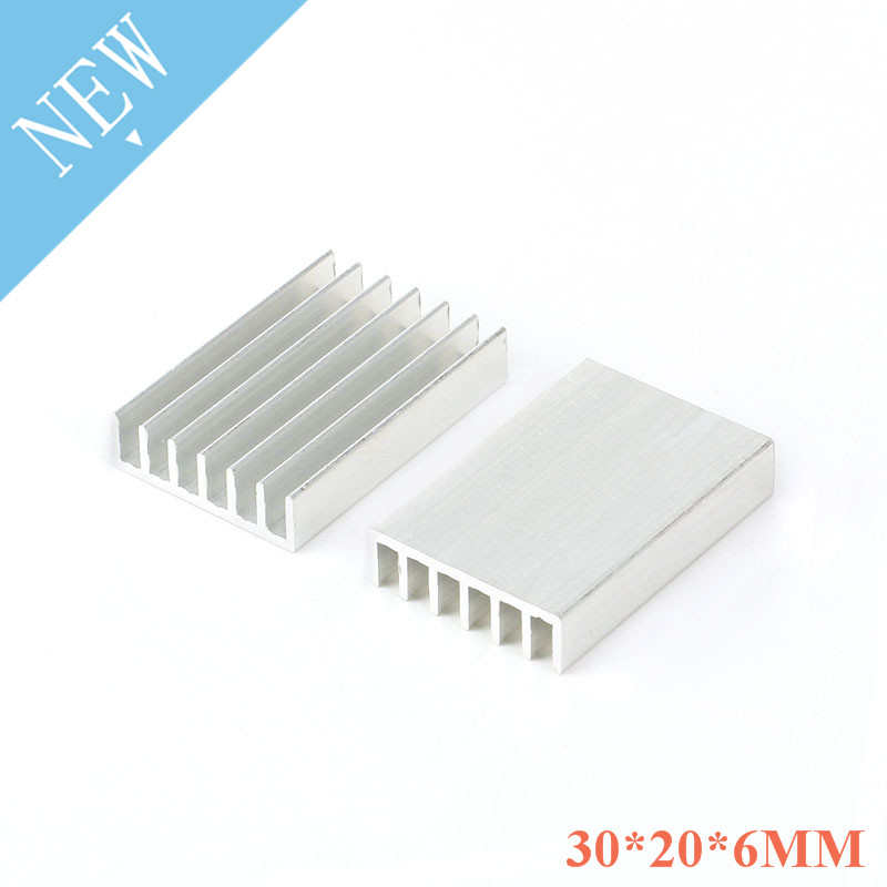 5pcs Heatsink 30X20X6mm Radiator Cooler Radiator Aluminum 30*20*6mm Heat Sink Metal Slotting 30mmX20mmX6mm For Cooling Chip IC