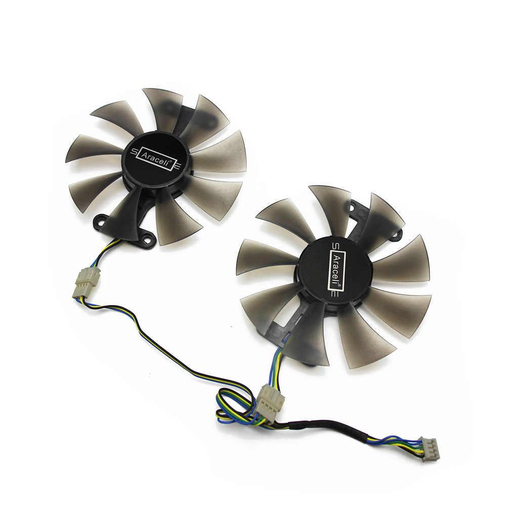 GA91B2H 12 فولت 0.35A 86 مللي متر RX 560 4Pin VGA مروحة ل الياقوت RX560 بطاقة جرافيكس مروحة التبريد