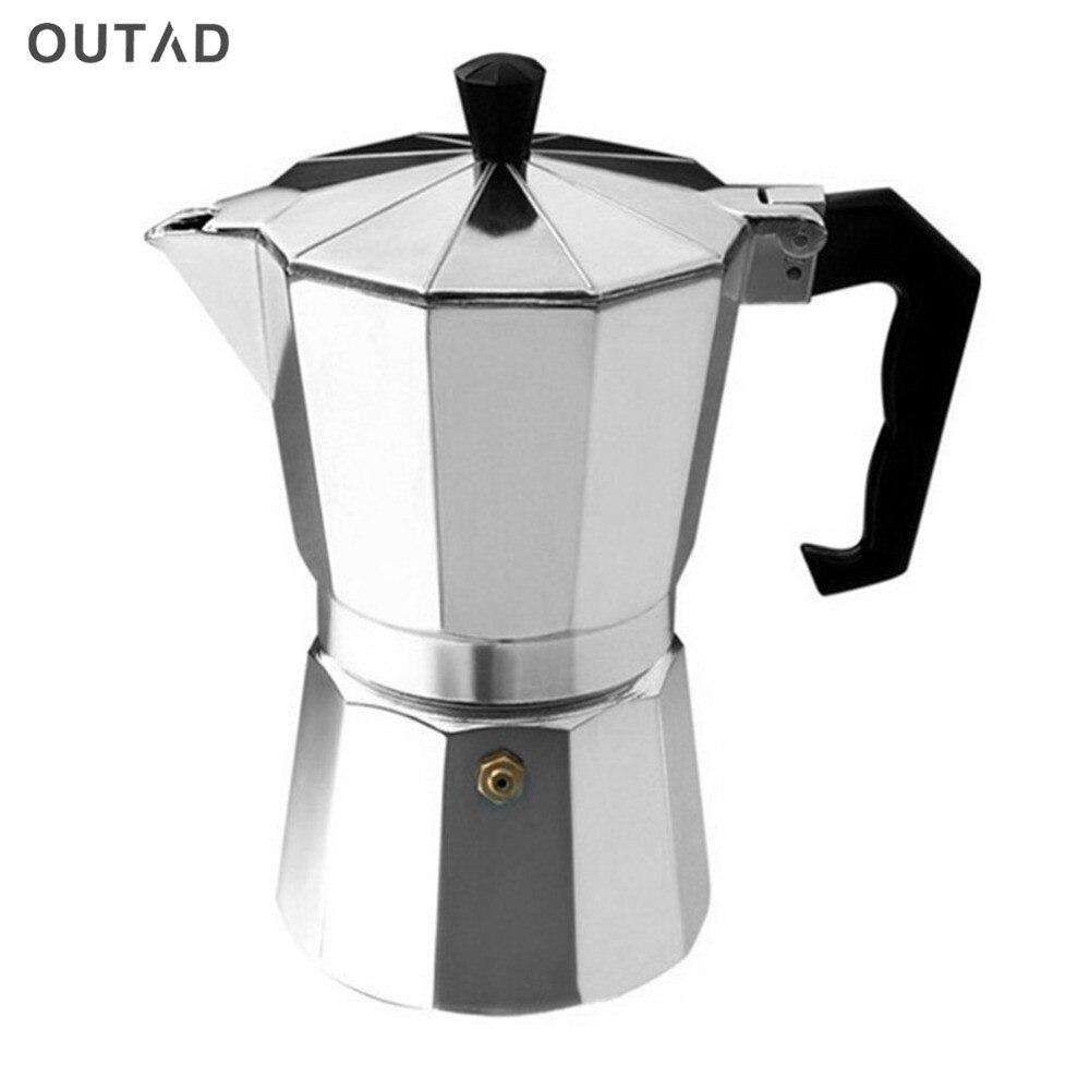 Coffee Maker Pot 3/6 Cups Espresso Pot Aluminum Moka Pot Coffee Maker Moka Espresso Latte Percolator Stove Top