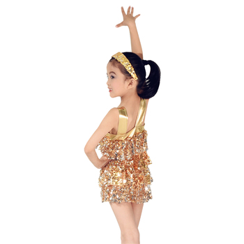 MiDee Tires Sequins Dancing Dresses Four Layers Sequins Dresses Stage Performance Discount Dancewear