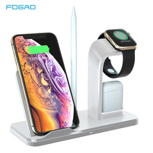 3 in 1 10W Fast Charging Qi Wireless Charger for Apple Watch 5 4 3 2 1 For iPhone 11 XR XS Max X 8 Samsung S10 S9 S8 For AirPods