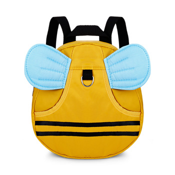 3D Cartoon Bee Anti-Lost Walking Learning Strap Cute Kid Toddler Backpack Mini Kindergarten School Bag with Safety Harness Leash Activity & Gear