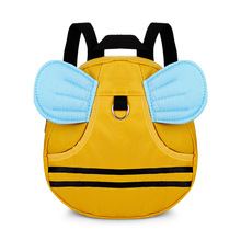 3D Cartoon Bee Anti-Lost Walking Learning Strap Cute Kid Toddler Backpack Mini Kindergarten School Bag with Safety Harness Leash