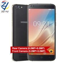 Doogee X30 смартфон 3 г Android 7.0 мобильный телефон quad Камера 2×8.0 Мп + 2X5.0 Мп 5.5 HD Quad Core MTK6580A 2 г + 16 г 3360 мАч сотовый телефон