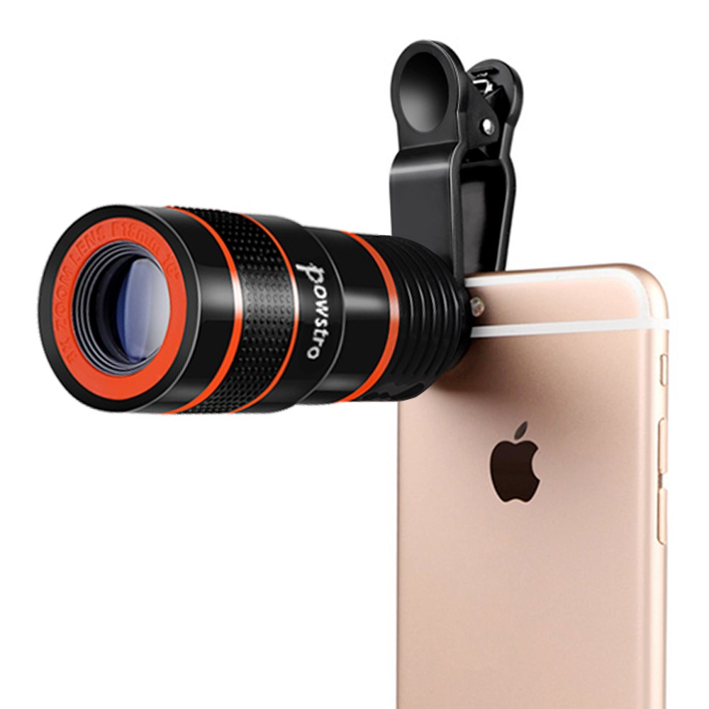 8x Zoom Optical Phone Telescope Portable Mobile Phone Telephoto Camera Lens and Clip for iPhone Samsung HTC Huawei LG Sony Etc
