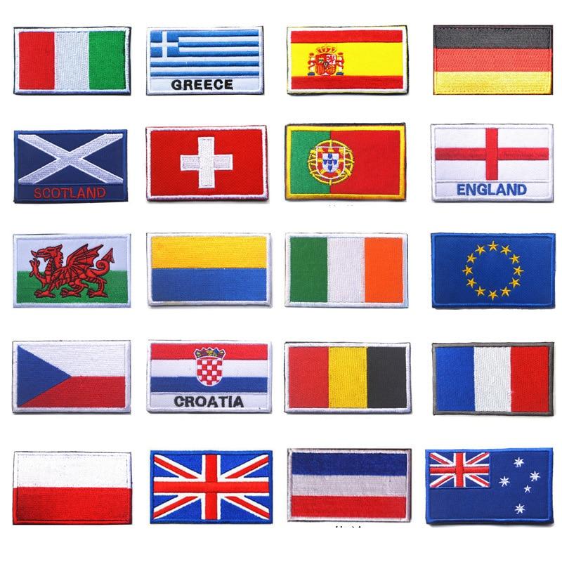 أعلام الدول الأوروبية رقعة معنوية إنجلترا فرنسا ألمانيا بلجيكا إيطاليا الاتحاد الأوروبي العلم ثلاثية الأبعاد التصحيح الزخرفية المطرزة Embroidered Decorative Patches It Patchdecorative Patches Aliexpress