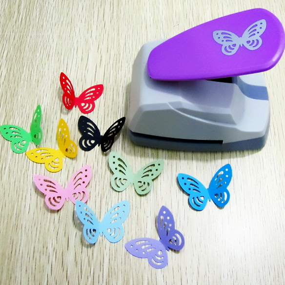 33x45mm big size hollow out design cute butterfly shape DIY craft punch save effort type scrapbooking hooby use cards cutters все цены