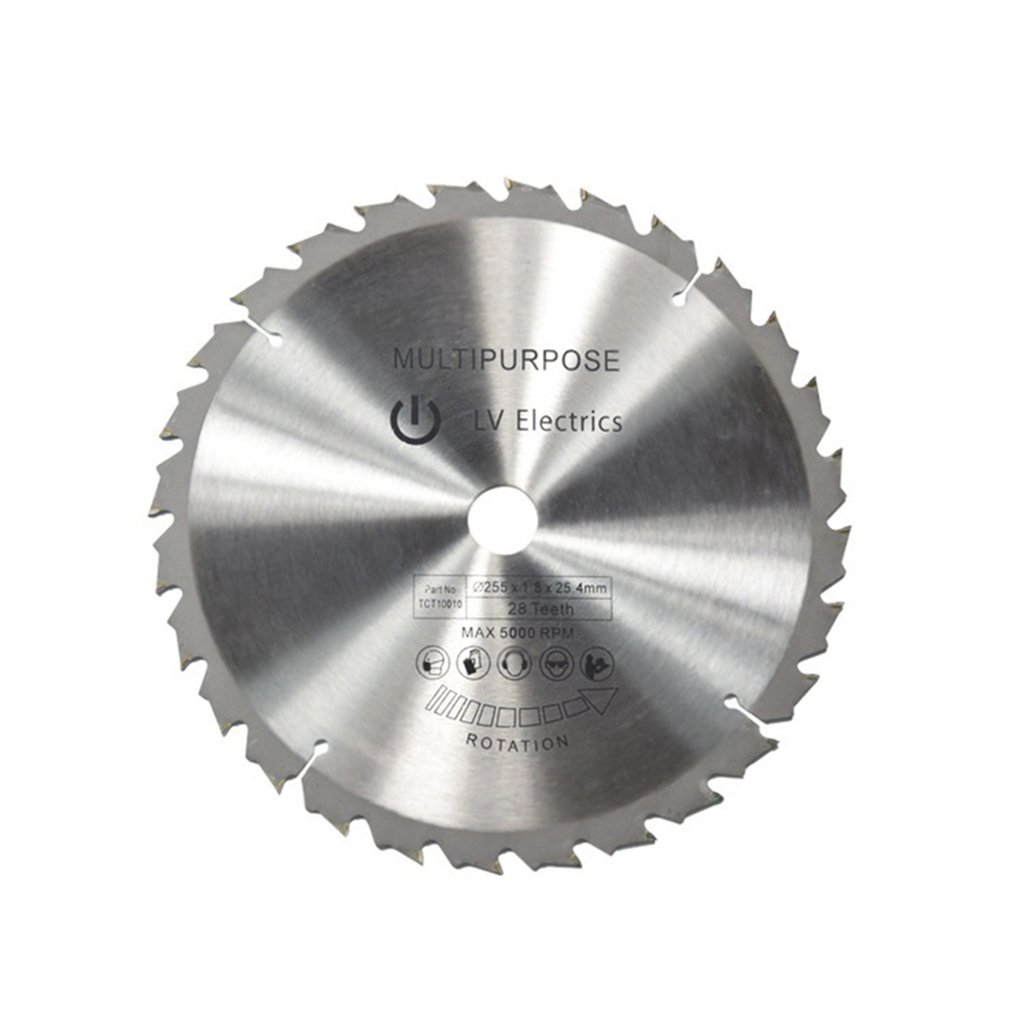 TCT Circular Saw Blade Wheel Discs TCT Alloy Woodworking Multifunctional Saw Blade For Wood Cutting 255x25.4MM 28 Teeth