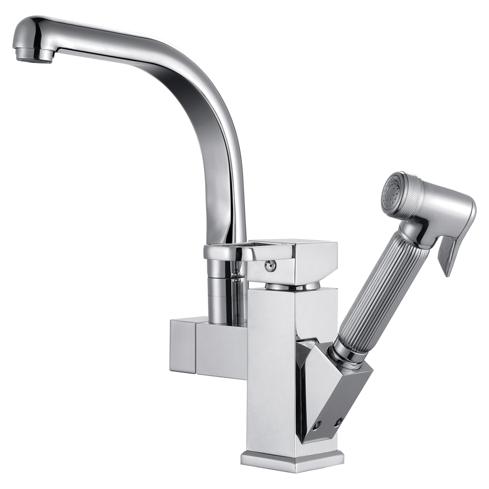 Luxury Pull Out Spray Kitchen Faucet Removable Mixer 2
