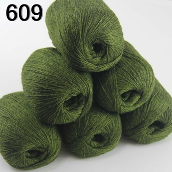 Sale 6balls X 50g  pure high quality 100% cashmere   warm soft  Knitting Yarn Dark Olive 233-609