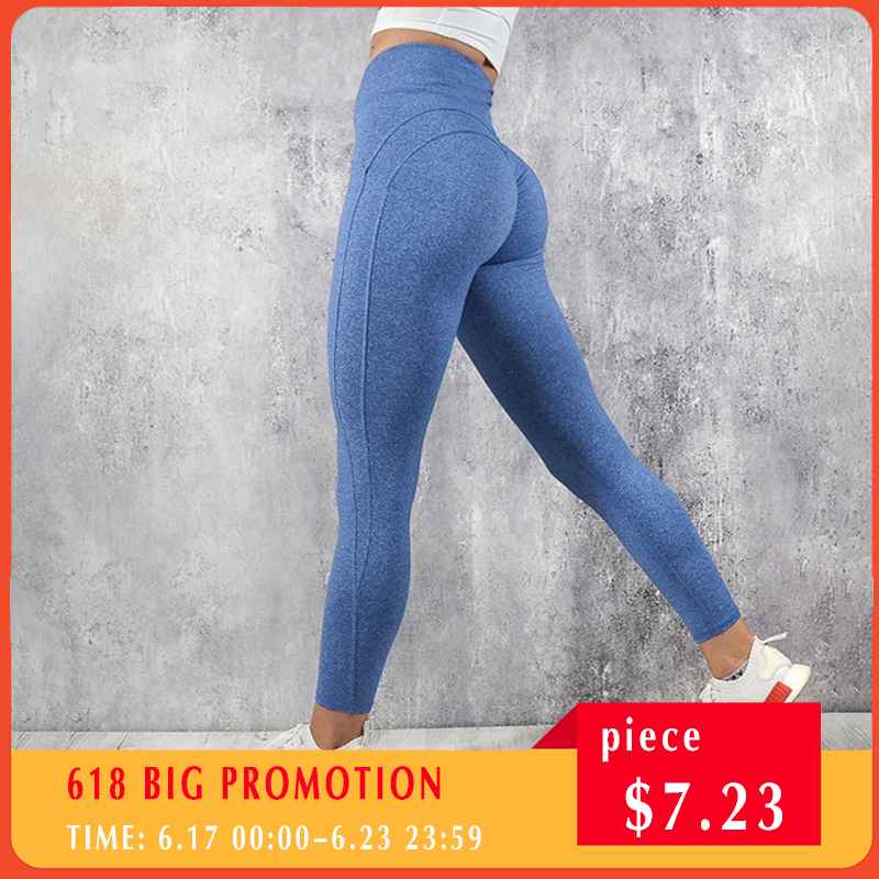 NORMOV Fashion Fitness   Leggings   Women High Waist Workout Push Up Leggins Casual Women Pants Mujer Solid Patchwork   Leggings