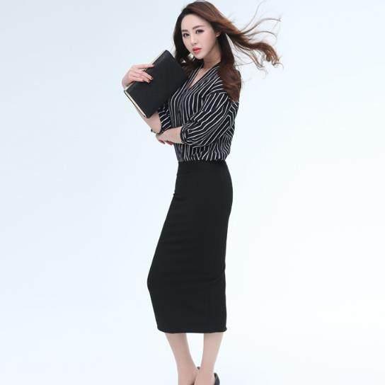 Clobee Women Skirts 2017 Pencil Skirt Elegant Office Las Work Wear Bandage Push Up Y Back Folk Black M705