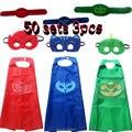 Traje de halloween para crianças presente Catboy Owlette Máscaras Cape Meninos Conjunto de Roupas Festa Cosplay Carnaval presente de natal
