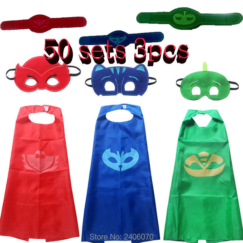 halloween Costume for children gift Catboy Owlette Masks Cape Boys Clothing Set Party Cosplay Carnival christmas present