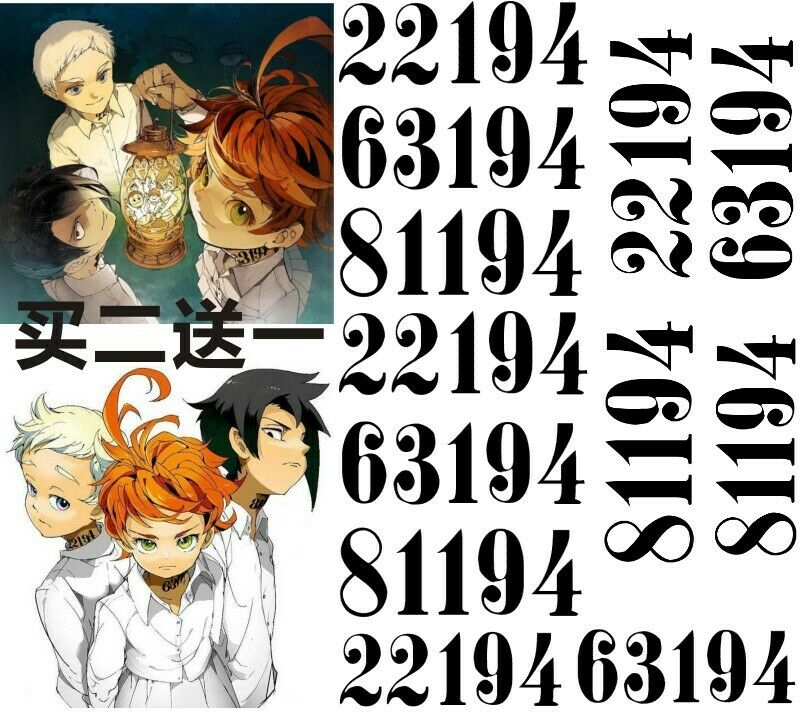 US $7 12 5% OFF|Anime Manga Yakusoku no The Promised Neverland Emma Norman  Ray Tattoo Sticker Cosplay Props-in Costume Props from Novelty & Special