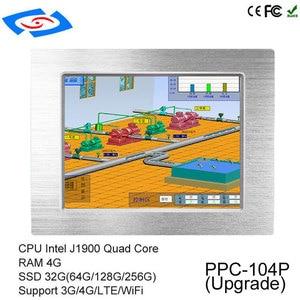 "Image 2 - לוח מגע מחשב 3G מודול intel Quad Core Tablet PC כרטיס ה SIM חריץ עם Bluetooth IPC עבור 10.4"" windows 10 התעשייתי Tablet PC"