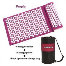 цена на Back Neck Foot Massage Yoga Mat & Pillow Massager Cushion Shakti Relieve Acupressure Mat Body Pain Acupuncture Spike Massage Mat
