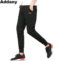 ADDANY 2018 Pants Men Casual Chinos Trousers Joggers Slim Fit Man Chinos Pants With Elastic Cuff
