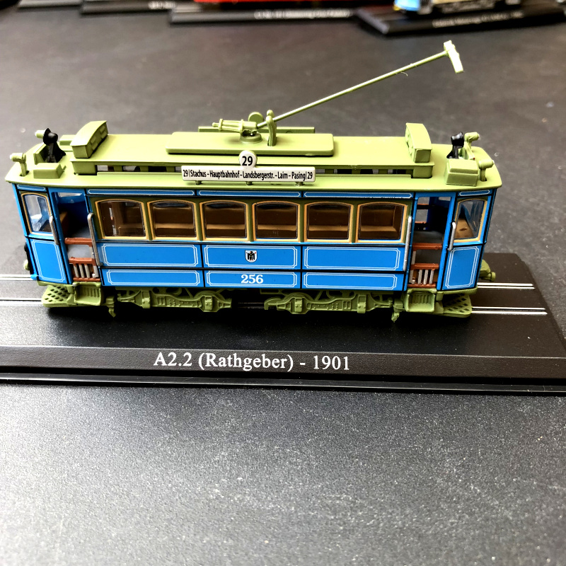 1/87 Simulation Vintage Retro A2.2 -1901 Tram Static Model Plastic Die-casting Collection Toy Car Good Companions For Children As Well As Adults rathgeber