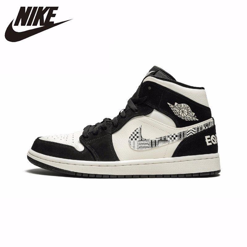 Nike officiel Air Jordan 1 hommes chaussures de basket-ball en cuir Sports de plein Air Sneaker nouveauté #852542