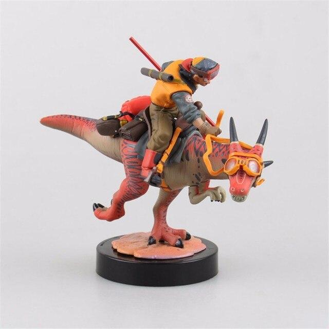 Аниме фигурка Драконий жемчуг Саян Гоку на драконе 2