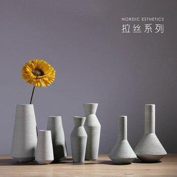 Nordic home ceramic vase set table table flower vase wine cabinet creative decoration filamentator jarrones decorativos moderno 1