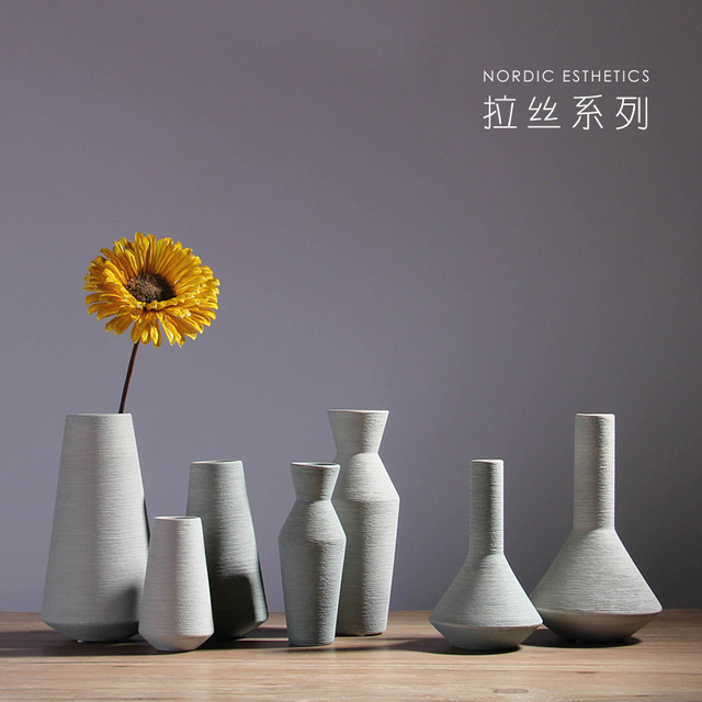 Nordic home ceramic vase set table table flower vase wine cabinet creative decoration filamentator jarrones decorativos moderno 1