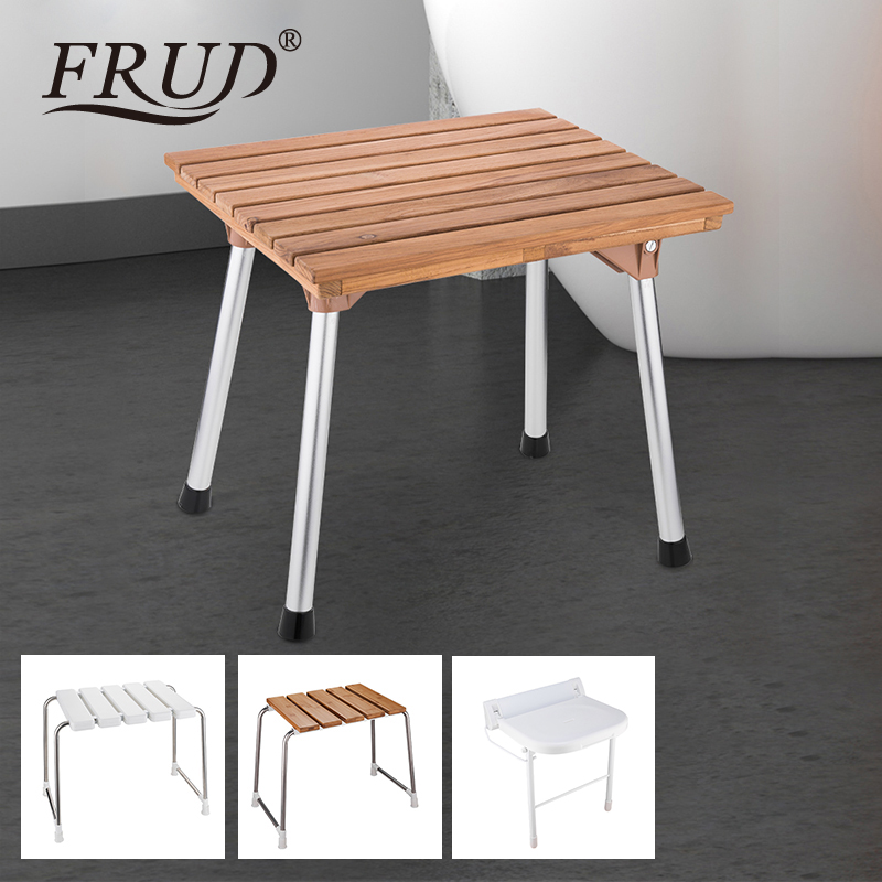 Frud Wall Mounted Shower Seats Bathroom Shower Chair Shower Folding Seat Bath Shower Stool Toilet Folding Bench Chair Bathroom Safety & Accessories Wall Mounted Shower Seats