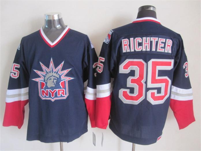 low priced e4e93 cbce4 US $54.7 |2016 New York Rangers Jersey Mike Richter Jersey NY Rangers  Alternate Vintage Hockey Jerseys White Dark Blue Size S XXXL-in Hockey  Jerseys ...