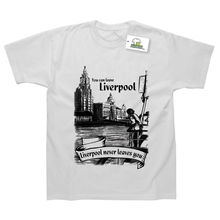 You Can Leave Liverpool But It Never Leaves Printed T-Shirt Top Tee 100% Cotton Humor Men Crewneck Shirts Black Style
