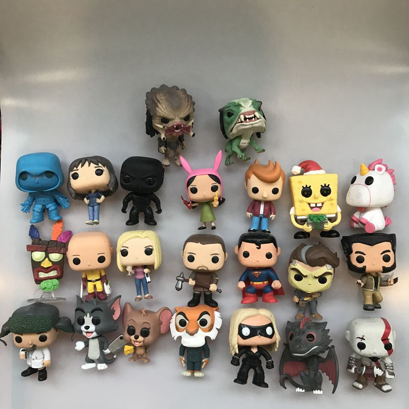 Funko Pop Bob's Burgers, Flash, Predator, Joyce, One Punch Man, Logan, Hanna Jerry, Game Dragon, Superman Vinyl Figure Loose Toy