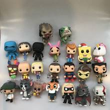 Funko pop boba hamburgery, lampa błyskowa, drapieżnik, Joyce, one punch man, Logan, Hanna Jerry, grę Dragon, Superman figurka winylowa luźna zabawka(China)