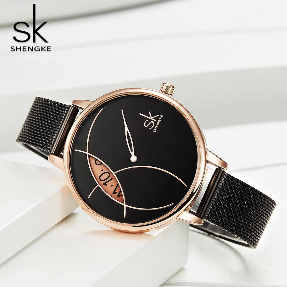 SHENGKE ผู้หญิงคุณภาพสูงหญิงนาฬิกากันน้ำผู้หญิงนาฬิกาควอตซ์นาฬิกาข้อมือแฟชั่นสตรี Dropshipping นาฬิกา