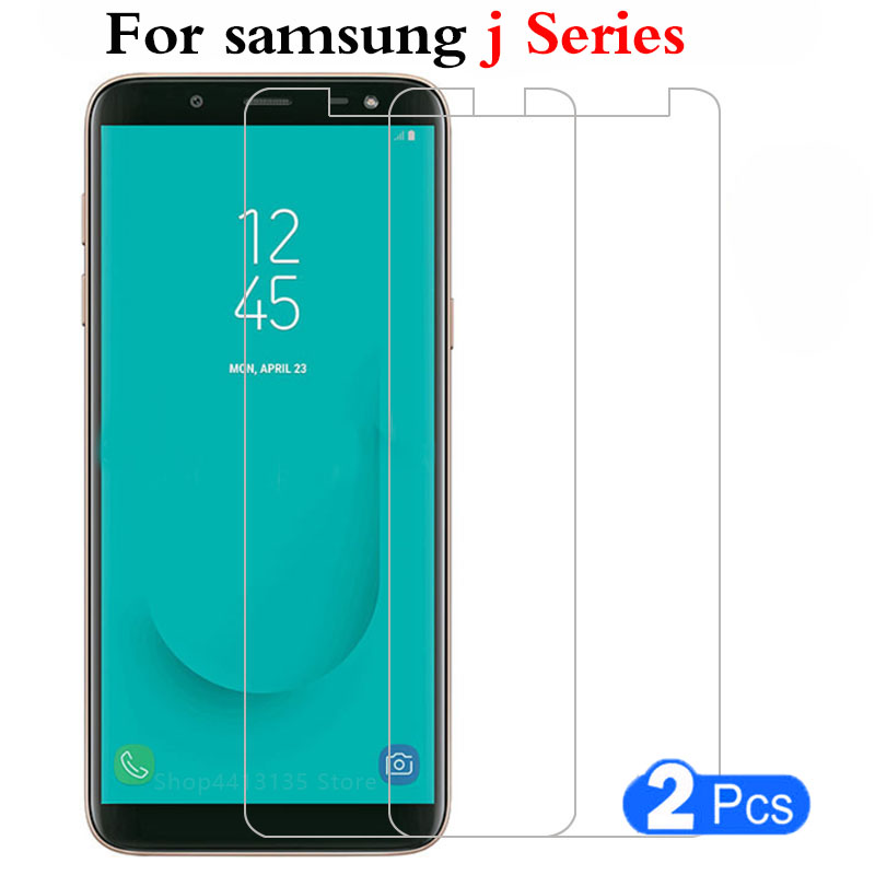 2pcs tempered glass case for samsung <font><b>j1</b></font> j3 j5 j7 <font><b>2016</b></font> 2017 j2 j4 j6 j8 2018 plus cover Protective Shell on galaxy phone glas 9h image
