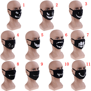 Image 4 - 11style Black Anime Cartoon Kpop Lucky Bear Women Men Muffle Face Mouth Masks Kawaii Cotton Mouth Face Mask