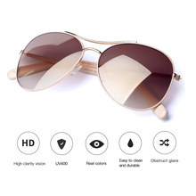COLOSSEIN Sunglasses Women Fashion Style Light Gold Frame