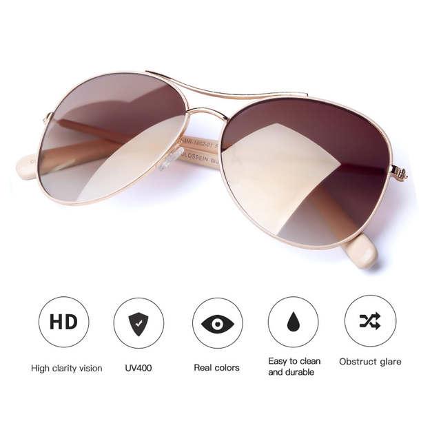 c588b0df23059 placeholder COLOSSEIN Óculos De Sol Das Mulheres Moda Óculos de Sol do  Quadro do Ouro Clássico Feminino