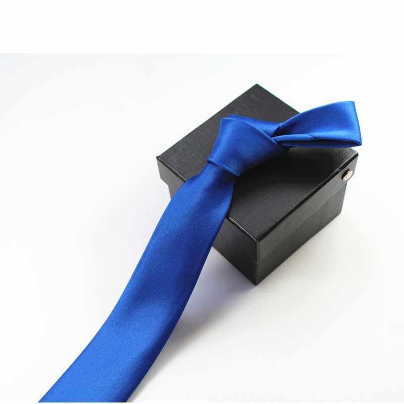 Мужской тонкий галстук, Одноцветный галстук, узкий галстук из полиэстера, ширина 5 см, 35 цветов, королевский синий, золотой, вечерние, формальные, модные галстуки