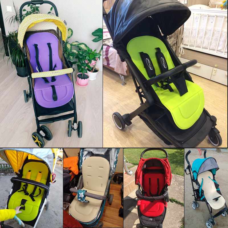 Baby Stroller Pad Pushchair Car Auto Seat Breathable Cotton Cushion Seat Padding Baby Pram Liner Pad Cushion Stroller Accessory