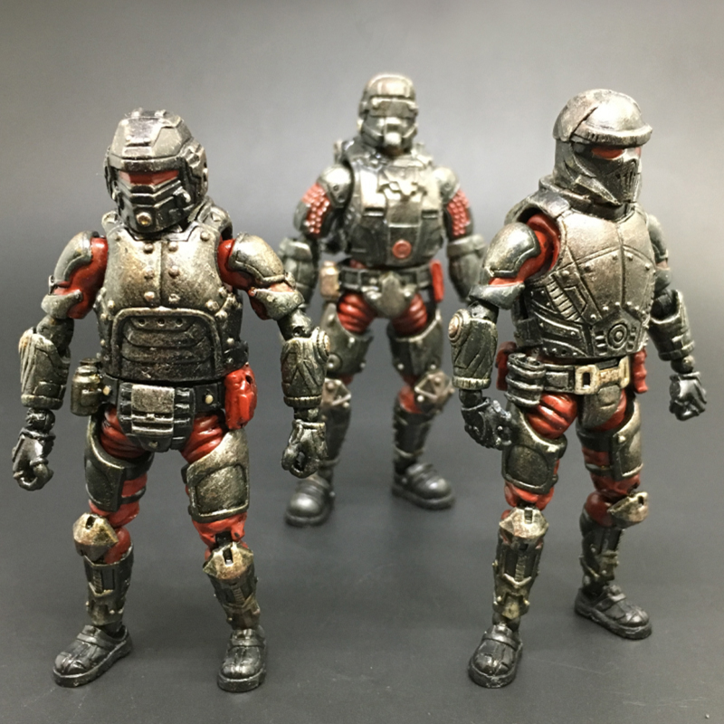 (3 piece set)1:27 the 3rd generation model Steel Ride Red Corps Action Figures soldier military decoration gift New Boxed