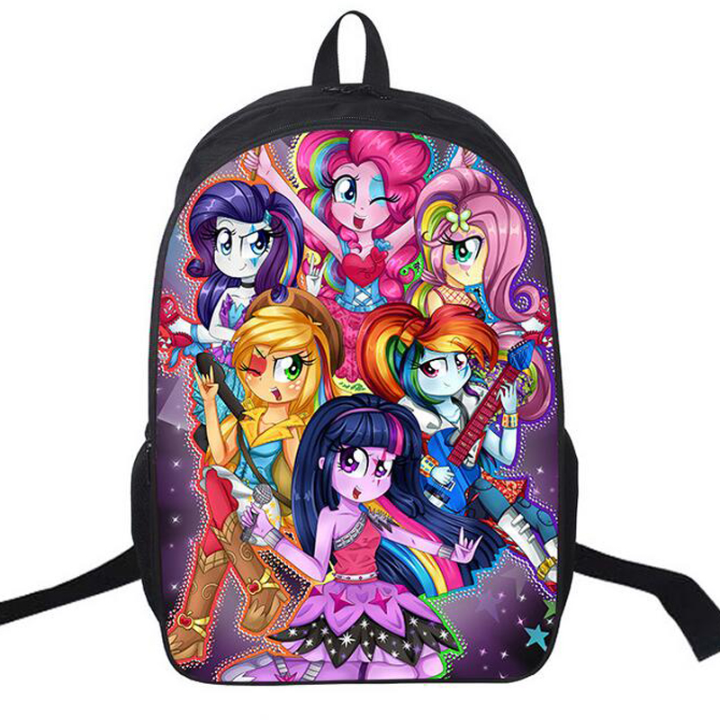 Fashion Nylon Cartoon Backpack Cute Horse Printing School Bag For Teenagers Girls My Little Pony Backpack Bagpack Brand Satchels карл фон клаузевиц принципы ведения войны