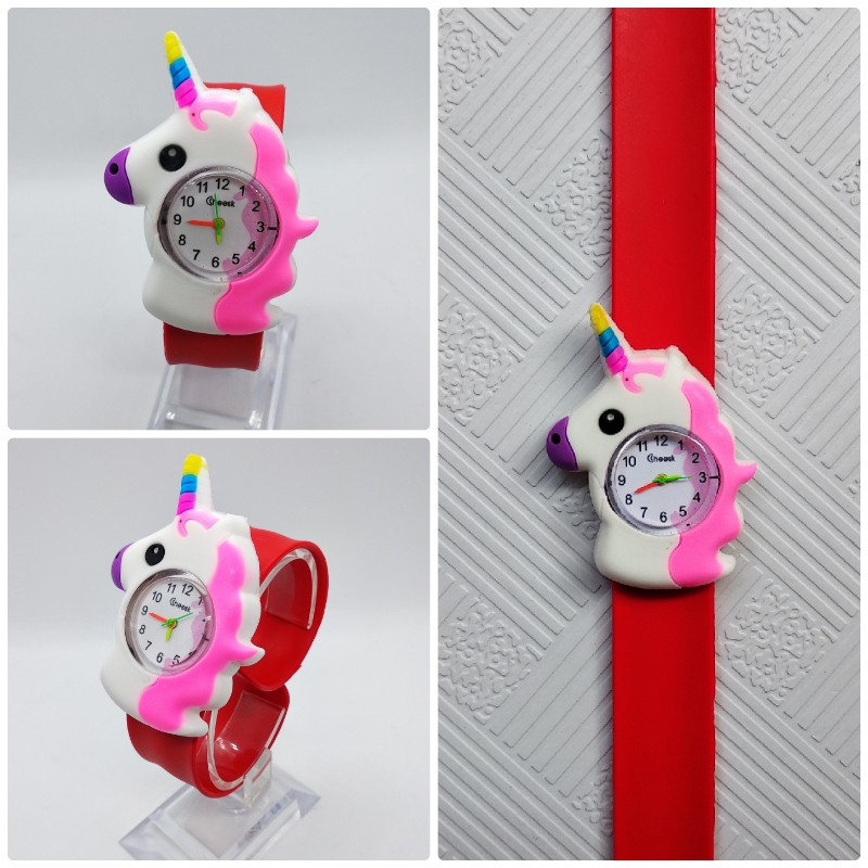 Mixed 3D Cartoon Bee Kids Watches Turtle Panda Slap Pat Watch Children Digital Sports Bracelet Watch Boys Girls Clock Gift Fei