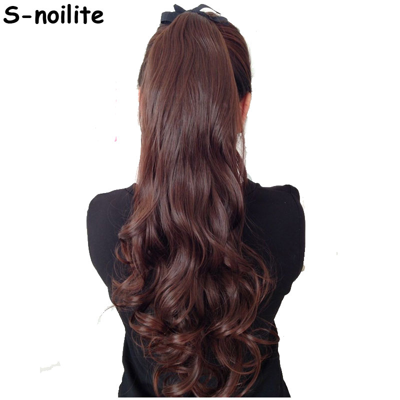 Aliexpress Buy S Noilite Long Curly Tie Up Ponytail Synthetic