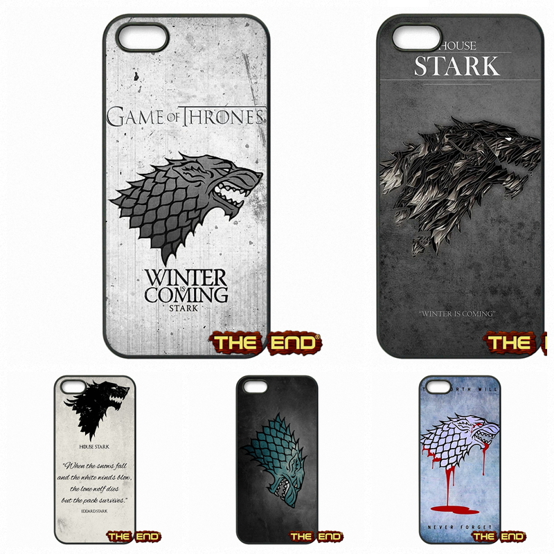 GOT Game Of Thrones House Stark Logo Hard Phone Case Cover For Apple iPod Touch 4 5 6 iPhone 4 4S 5 5C SE 6 6S 7 Plus 4.7 5.5